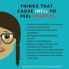 INFJs feel trapped when they can't think about the future, when they are confined to this moment. These types like to imagine and explore potential and possibilities, they like to anticipate and predict. Intj And Infj, Infj Mbti, Infj Type, Infj Traits, Esfj, Myers Briggs Personality Types, Myers Briggs Personalities, Infj Personality, Advocate Personality Type