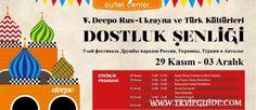 С 29 ноября по 4 декабря в Анталии состоится 5-й Фестиваль Дружбы народов России, Украины и Турции Гид в Стамбуле http://trvipguide.com/guide-in-istanbul