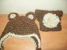 Bear ear flap hat and diaper cover: 3-6 Month. $25.00, via Etsy.