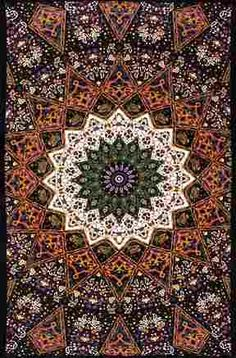 "Purple Indian Star 3D Tapestry Wall Hanging  This  intricate and detailed tapestry would look great hanging on a wall. The Indian Star design has a bit of purple running through it. A real flashback to the 60's. This wall hanging measures 60"" x 90"" and has corner loops on each end for hanging. It's also great to bring to the beach or a festival. It's 3D for an even more psychedelic experience. #sunshinedaydream #hippieshop"