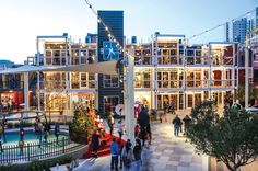 Things to Do in Las Vegas (Off the Strip) Container Park Las Vegas, Container Hotel, Container Design, Transformers, Urban Interior Design, Urban Design, Container Buildings, Shipping Container Homes, Shipping Containers