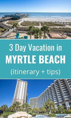 Planning to visit Myrtle Beach South Carolina? Here is a 3 day itinerary with tips on the best things to do in Myrtle Beach, top attractions, places to eat and where to stay. Don't visit South Carolina before reading these Myrtle Beach travel tips! #MyrtleBeach #SouthCarolina #travel #familytravel #vacations #beach #beaches #beachvacation #SouthCarolinaTravel #traveling #traveler
