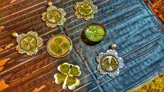 Four leaf clover pendants for sale! Also, a five leaf clover and six leaf clover! #sixleafclover #fiveleafclover #fourleafclover #pendant #necklace #jewelry #irish #luck #celtic