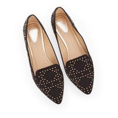 REDUCED❗️Black Studded Loafer Slippers Brand: Oasis | brand new, never worn | UK size 36, listed as a 5.5 since they run small Shoes Flats & Loafers