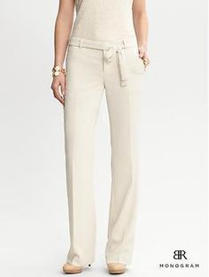 Winter White Trousers