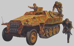 Полугусеничный бронетранспортер Sd.kfz. 251 1 Ausf. D