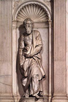 МИКЕЛАНДЖЕЛО. Скульптуры от 1502 St Paul. 1501-04 Мрамор. Duomo, Сиена