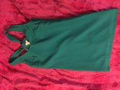 J Crew Emerald Green Dress with Cross Cross Back | eBay