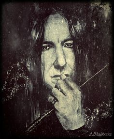 Severus Snape (drawing and editing) by DeolaS on deviantART