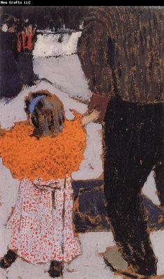 Edouard Vuillard Orange girl clothes