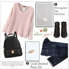 Oliveyewjewelry by water-polo on Polyvore featuring moda, Chicnova Fashion, N.Y.L.A., Michael Kors, 7 For All Mankind, women's clothing, women's fashion, women, female and woman