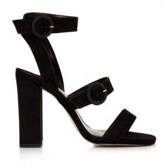 Sante πέδιλο suede τόκες μαύροαπό συνθετικό καστόρι.Το τακούνι του είναι ντυμένο από συνθετικό καστόρι και έχει ύψος 10 εκ. Sandals, Shoes, Fashion, Moda, Shoes Sandals, Zapatos, Shoes Outlet, La Mode, Fasion