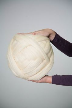 Grosse pelote de laine super chunky pour faire des couvertures ou tapis