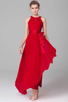35ec1c85b92 ZUMEET WOMENS CHIFFON SLEEVELESS PROM DRESS RED Beach Dresses