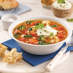 Soupe aux lentilles rouges - 5 ingredients 15 minutes Lentils, Thai Red Curry, Easy Meals, Easy Recipes, Seafood, Vegetarian Recipes, Comme, Ethnic Recipes, Copyright