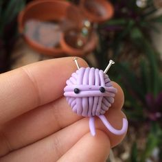 #kawaii #charms #polymer #clay #yarn #ball #charm