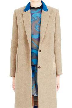 Tweed effect coat