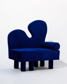 Bordon chair by Another Human, Blue Velvet Contemporary Lounge Chair Furniture Logo, Bed Furniture, Cheap Furniture, Furniture Design, Furniture Stores, Furniture Ideas, Urban Furniture, Furniture Removal, Ceramic Furniture