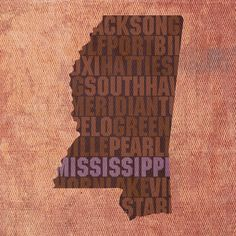Mississippi Textual Art