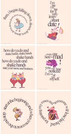 Quotes alice in wonderland cheshire cat mad hatter Alice And Wonderland Quotes, Alice In Wonderland Tea Party, Adventures In Wonderland, Alice In Wonderland Printables, Alice In Wonderland Artwork, Alice In Wonderland Characters, Disney Love, Disney Art, Disney Pixar