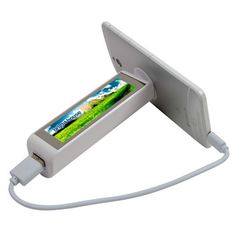 www.customsourcemkg.com  Rechargeable 2200 mAh non-recycled lithium ion battery, Input: 5V/0.8A – Output: DC 5V/1A. Provides power for your mobile phone, digital camera, MP3/MP4 player or GPS device. Suction cup on the bottom to attach it to surfaces. Uses Bluetooth™ to take pictures with your phone. When unit is in use, watch your graphics ILLUMINATE! Includes USB output & Micro USB input cord. Packaged in high end two piece gift box. Usable as a phone stand. Complies with CE, FCC, RoHS…