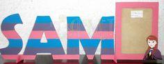 Nombre con porta retrato para foto grande multicolor, Ana frozen