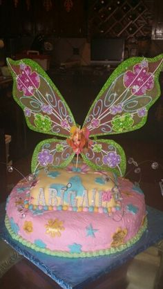 Winx club cake made for me today 4/19/14