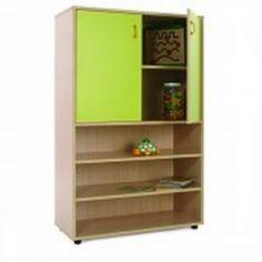 Mueble escolar medio estanteria y armario