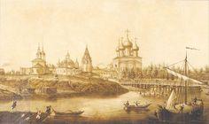 Города России во второй половине 19 века на картинах и рисунках