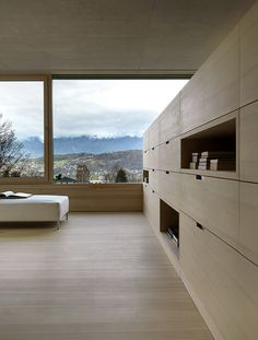 Reading-room-Design-of-Germann-Riverside-House. - Home Decor Minimalist Interior, Modern Interior, Interior Architecture, Interior And Exterior, Futuristic Architecture, Exterior Design, Feldkirch, Riverside House, Interior Minimalista