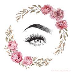 Pink Instagram, Instagram Makeup, Instagram Blog, Home Beauty Salon, Makeup Illustration, Eyelash Logo, Makeup Artist Logo, Lashes Logo, Nail Designer