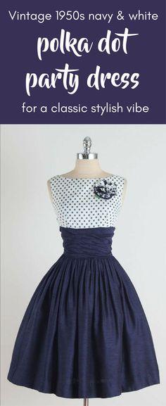 "vintage 1950s dress * navy blue cotton blend * polka dot acetate * matching bolero * detachable rosette * pleated skirt * ruched waist * metal back zipper condition | excellent fits like xs/s length 41"" bolero length 14"" bodice 17"" bust 36"" waist 26"" hem allowance 2"""