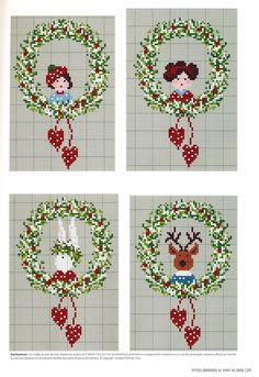 4 Wreath Ornaments