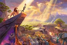 Thomas Kinkade Disney Dreams Collection VII The Lion King painting for sale, this painting is available as handmade reproduction. Shop for Thomas Kinkade Disney Dreams Collection VII The Lion King painting and frame at a discount of off. Disney Pixar, Simba Disney, Disney E Dreamworks, Film Disney, Disney Lion King, Disney Characters, Disney Princesses, Disney Songs, Disney Memes