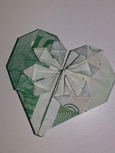 origami af pengesedler