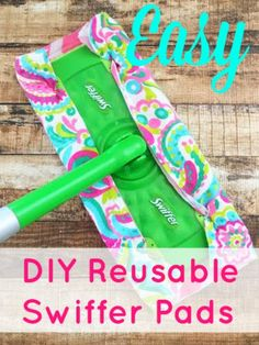 Hate wasting money on Swiffer pads?  If you go through as many as I do, try these Easy DIY Reusable Swiffer Pads.  They are easy to make and will save you a small fortune!