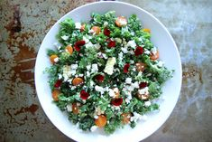 Kale, Charred Corn and Feta Salad   Ingredients •-8 cups curly Kale, torn into bite sized pieces •-2 ears grilled corn on the cob •-2 ounces Feta cheese crumbled •-1 cup cherry tomatoes, sliced in half •Vinaigrette •-1 shallot minced •-1 tablespoon Dijon mustard •-2 teaspoons honey (or agave) •-3 tablespoons olive oil •-3 tablespoons red wine vinegar •-Kosher salt and black pepper