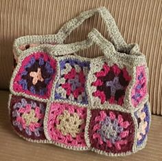 Granny Squares bag for that little girl in your life who can't leave the house without a few essential toys. Any colour combination available on request. Granny Square Bag, Granny Squares, Color Combinations, Little Girls, Colour, Blanket, Toys, Summer, Crafts