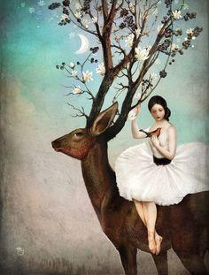 Poster | THE WANDERING FOREST von Christian Schloe