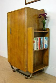 asymmetrical modernist art deco multipurpose cupboard cabinet bookcase 30 s