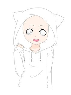 anime boy base | Cat Hoodie Base by natalielobsters