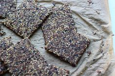 Four Seed Flax Crackers on http://www.homemadelevity.com/four-seed-flax-crackers/
