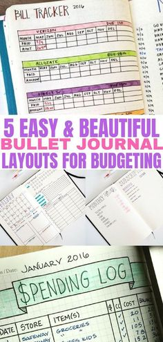 Bullet Journal Ideas That'll Help You Crush Your Financial Goals The bullet journal layouts are perfect for tracking spending and budgeting. Journal ideas to keep your finances in order. Use these bullet journal inspiration ideas to stay organized. Bullet Journal Spending Tracker, Bullet Journal Layout, Bullet Journal Inspiration, Bullet Journals, Financial Goals, Financial Planning, Journal Pages, Journal Ideas, Journal Prompts