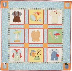 """""""Benji's Pockets"""" applique pattern by Brenda Riddle at Acorn Quilt & Gift company"""