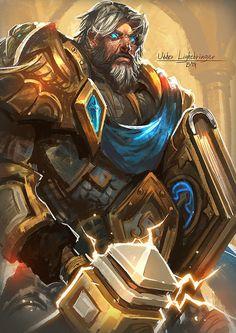 World of Warcraft - Uther Lightbringer Art Warcraft, World Of Warcraft Game, Warcraft Movie, Warcraft Characters, Fantasy Characters, World Of Warcraft Paladin, Warcraft Heroes, Uther Lightbringer, Character Art