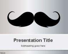 Moustache PowerPoint Template is a free gray PowerPoint template with a simple moustache illustration in the master slide