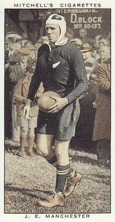 AllBlacks 1935 JE Manchester Mitchell's Cigarette card (repro)