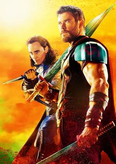 Thor and Loki Poster Marvel, Marvel Dc Comics, Marvel Avengers, Poster Superman, Posters Batman, Batman Vs Superman, Marvel Heroes, Captain Marvel, Movie Posters