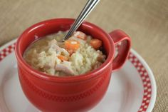 Chicken & Rice Soup - A quick and easy soup and a great way to use up leftover chicken or turkey.