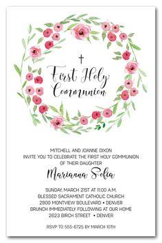 first communion invitation girl communion invitations girl first